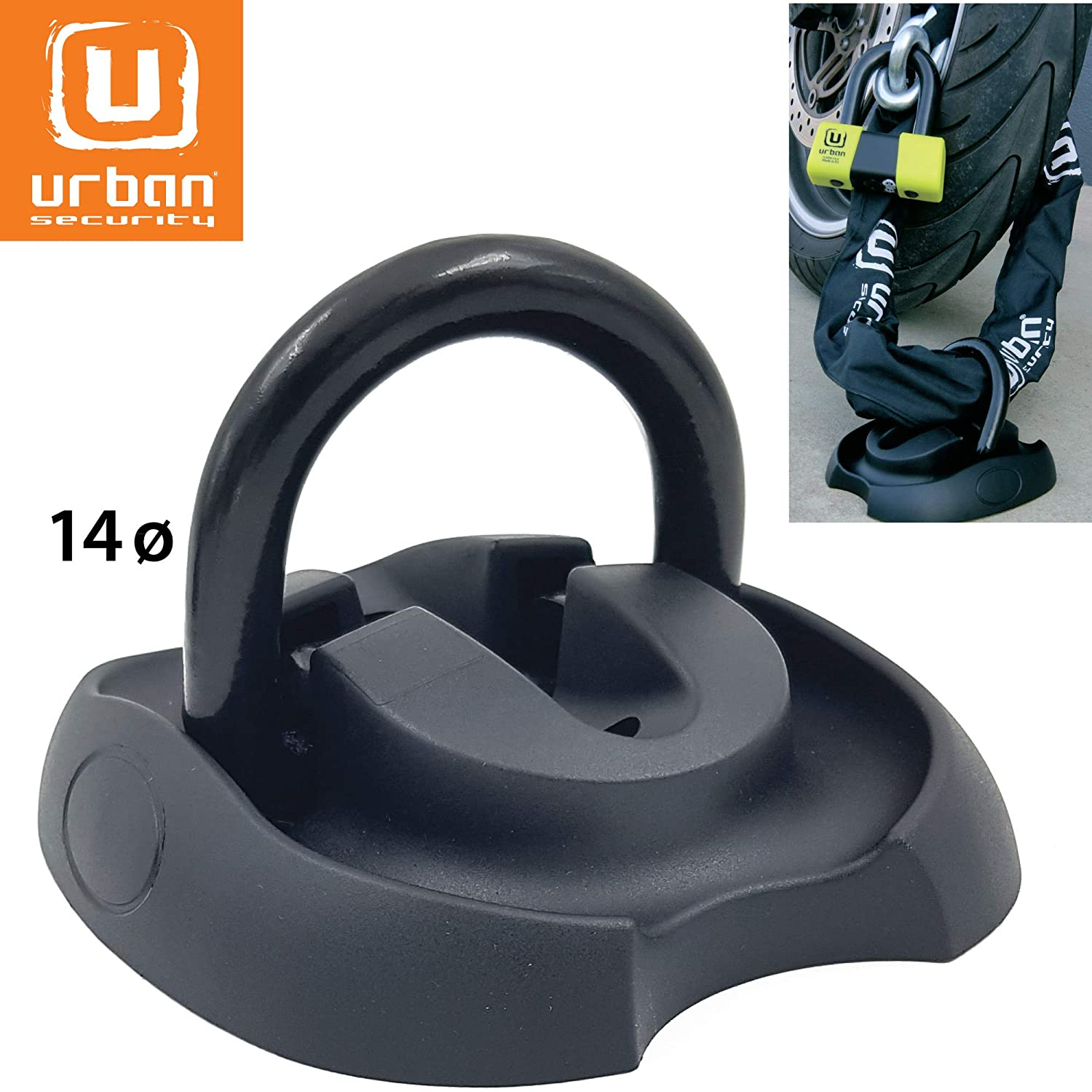 14 mm D-Ring Diameter Wall Urban Security Floor Ground Anchor security lock