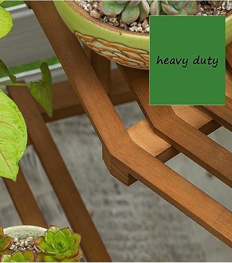 JYGMHJ - Estantería esquinera de Madera para macetas de jardín (60 x 72 x 80 cm): Amazon.es: Hogar