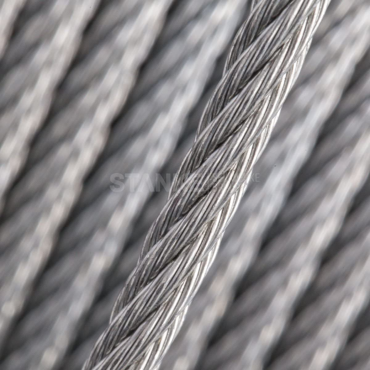 Seilwerk STANKE 10 x Simplex Klemme Gr/ö/ße 5 f/ür 5 mm Drahtseile Seilklemme Verzinkt Stahlseil