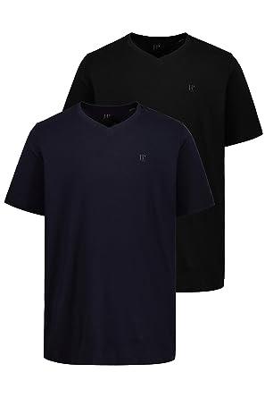 2a7bcb134666 JP 1880 Herren große Größen bis 8XL | T-Shirt 2er Pack | V-Shirt, V ...