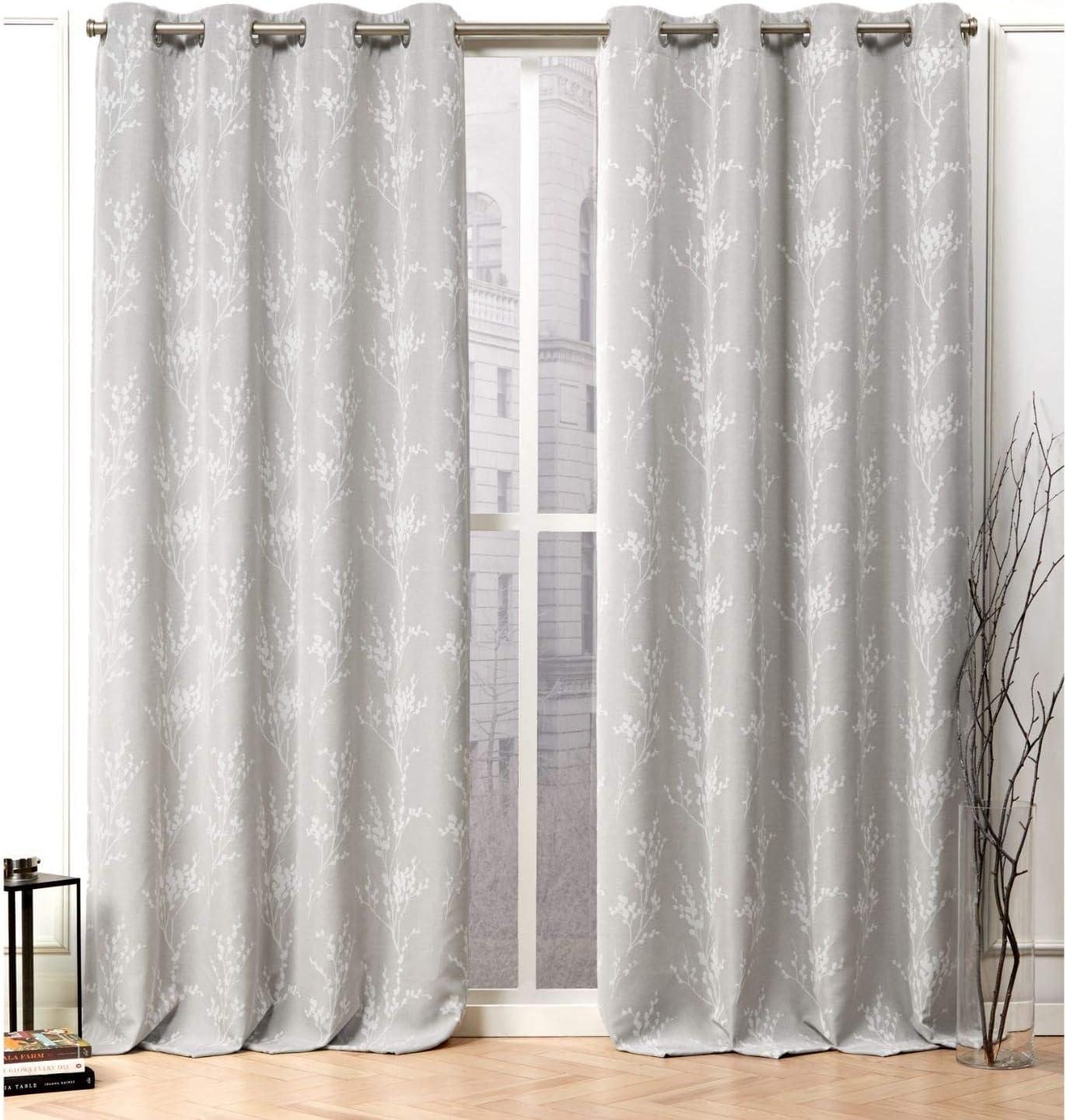 Nicole Miller Turion Curtain Panel, 52x84, Dove Grey, 2 Panels
