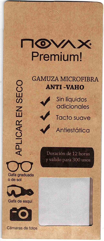 NOVAX GAMUZA MICROFIBRA ANTI-VAHO premium - 12HORAS DE EFECTO