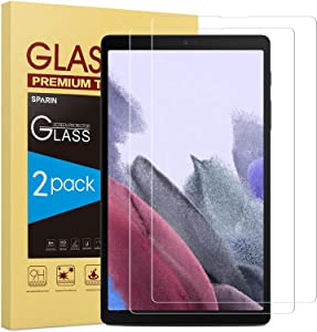 SPARIN 2 Pack Screen Protector Compatible with Samsung Galaxy Tab A7 Lite, Tempered Glass, 2021 Released, Bubbles-Free