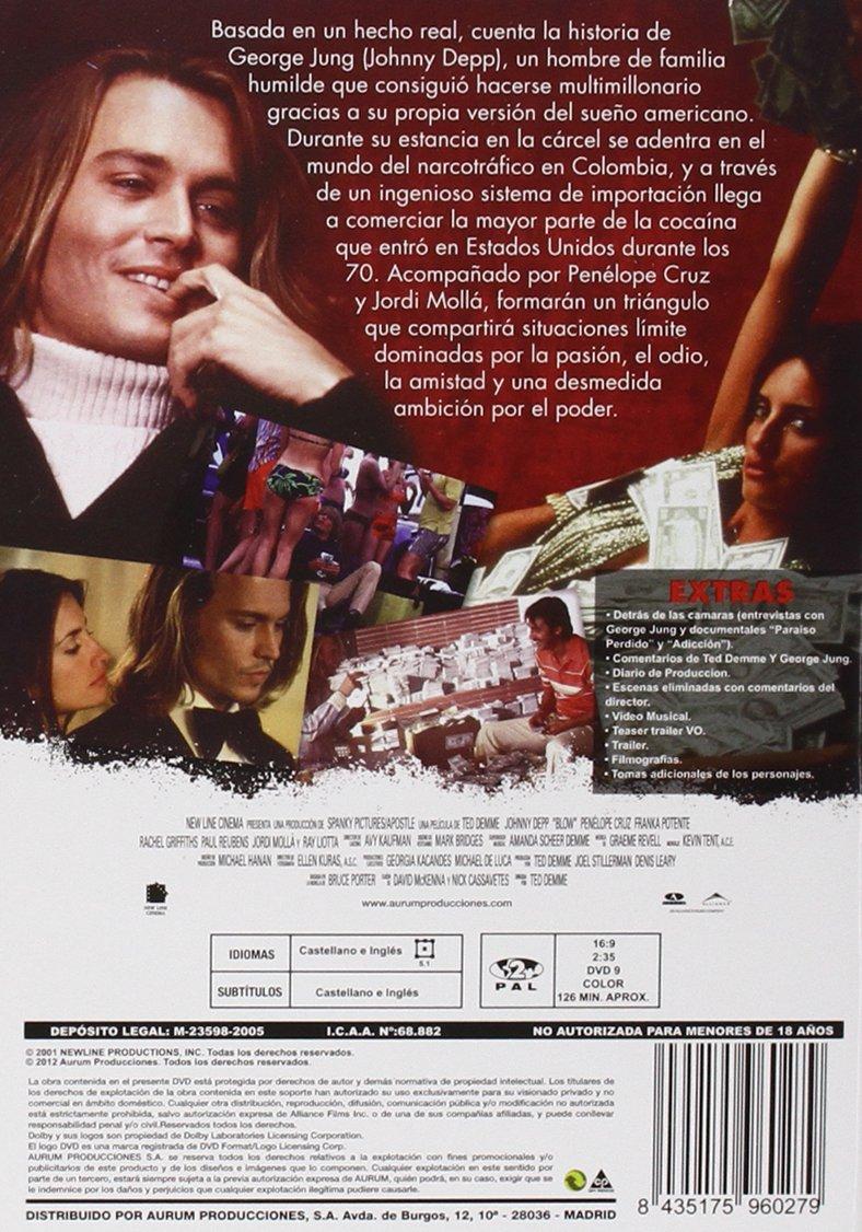 Blow [DVD]: Amazon.es: Johnny Depp, Penélope Cruz, Jordi Molla, Ray ...
