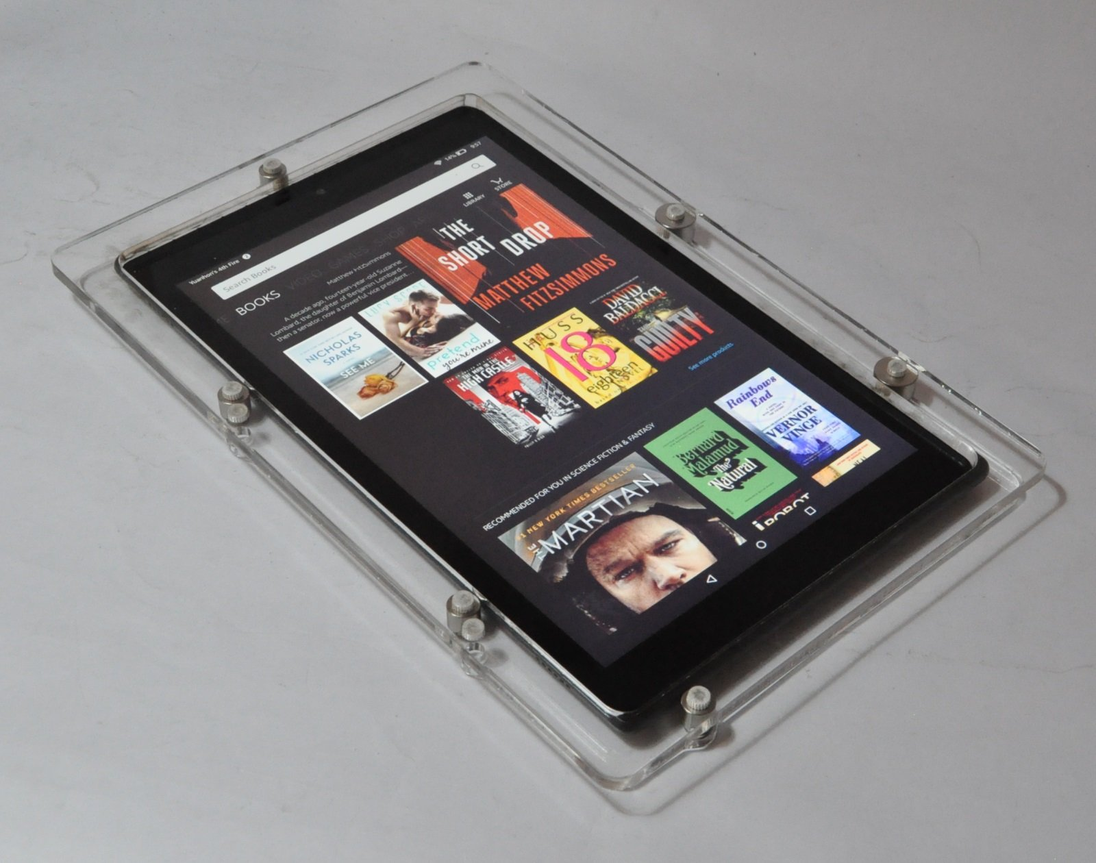 Kindle Fire HD 10 Security Acrylic VESA Kit for POS, Kiosk, Store, Show Display (Clear)