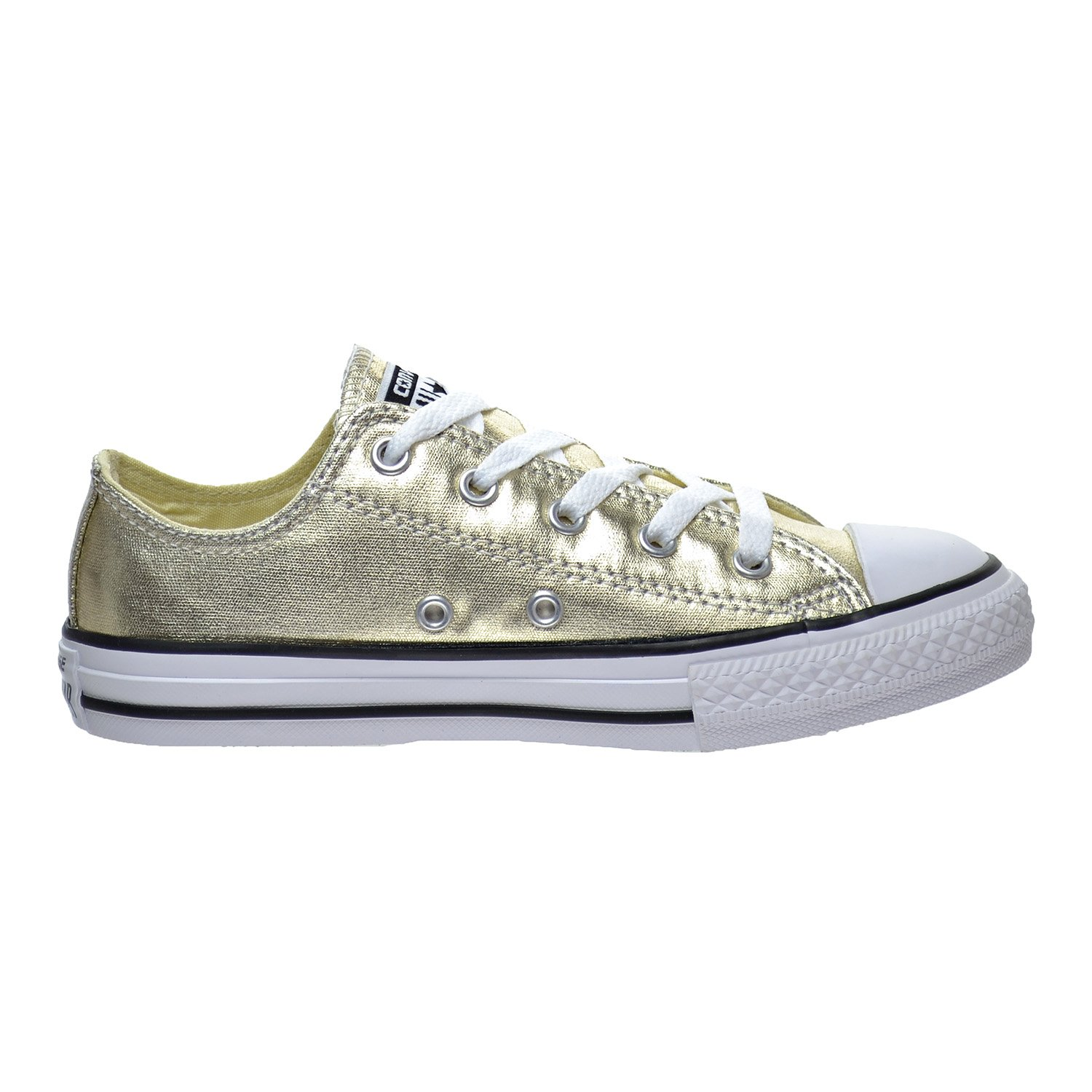 a21a299fd5549 Converse Chuck Taylor All Star Kids Shoes Metallic Gold White Black  Sneakers (1)  Buy Online at Low Prices in India - Amazon.in