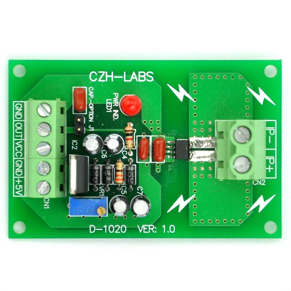 Electronics-Salon Panel Mount +/-5Amp AC/DC Current Sensor Module Board, based on ACS712