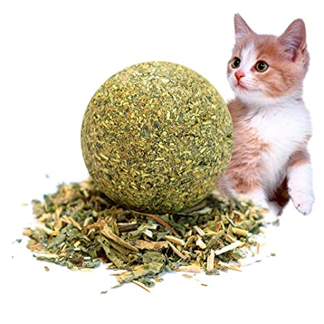 Aolvo Catnip Matatabi bola, grande comprimido 100% orgánico para mascotas gato seguro comestible gato