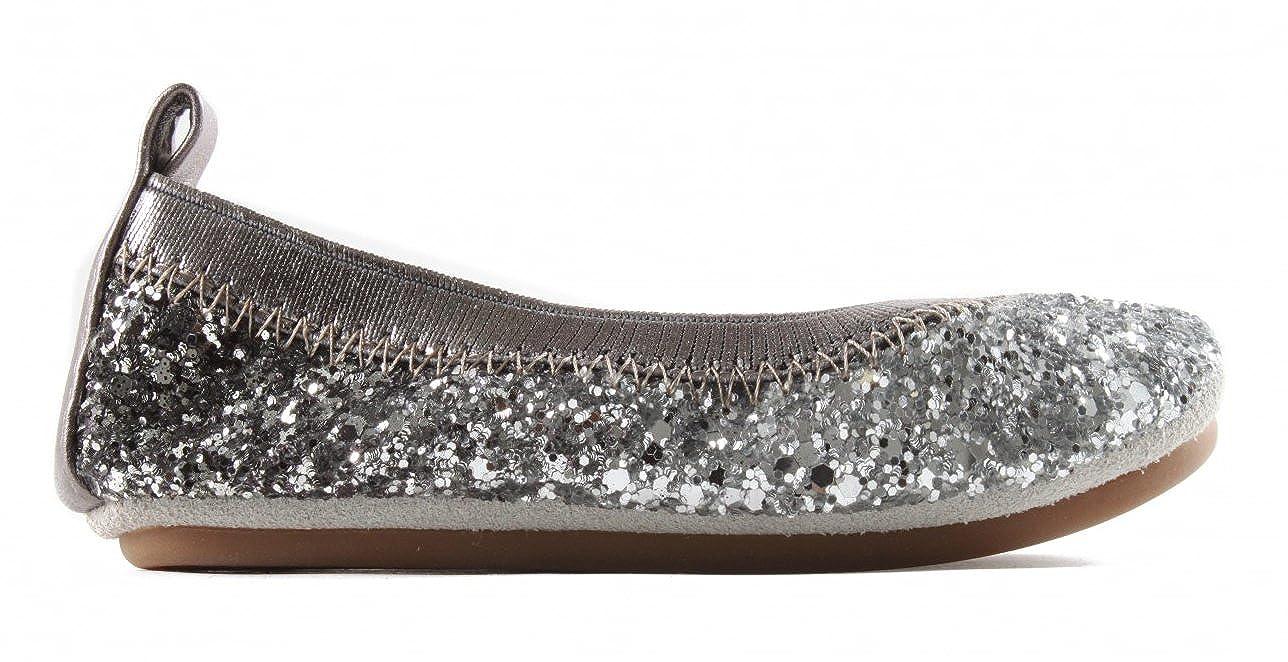 Yosi Samra KSO-301-115 Sonya Ombre Chunky Glitter Kids Ballet Flats