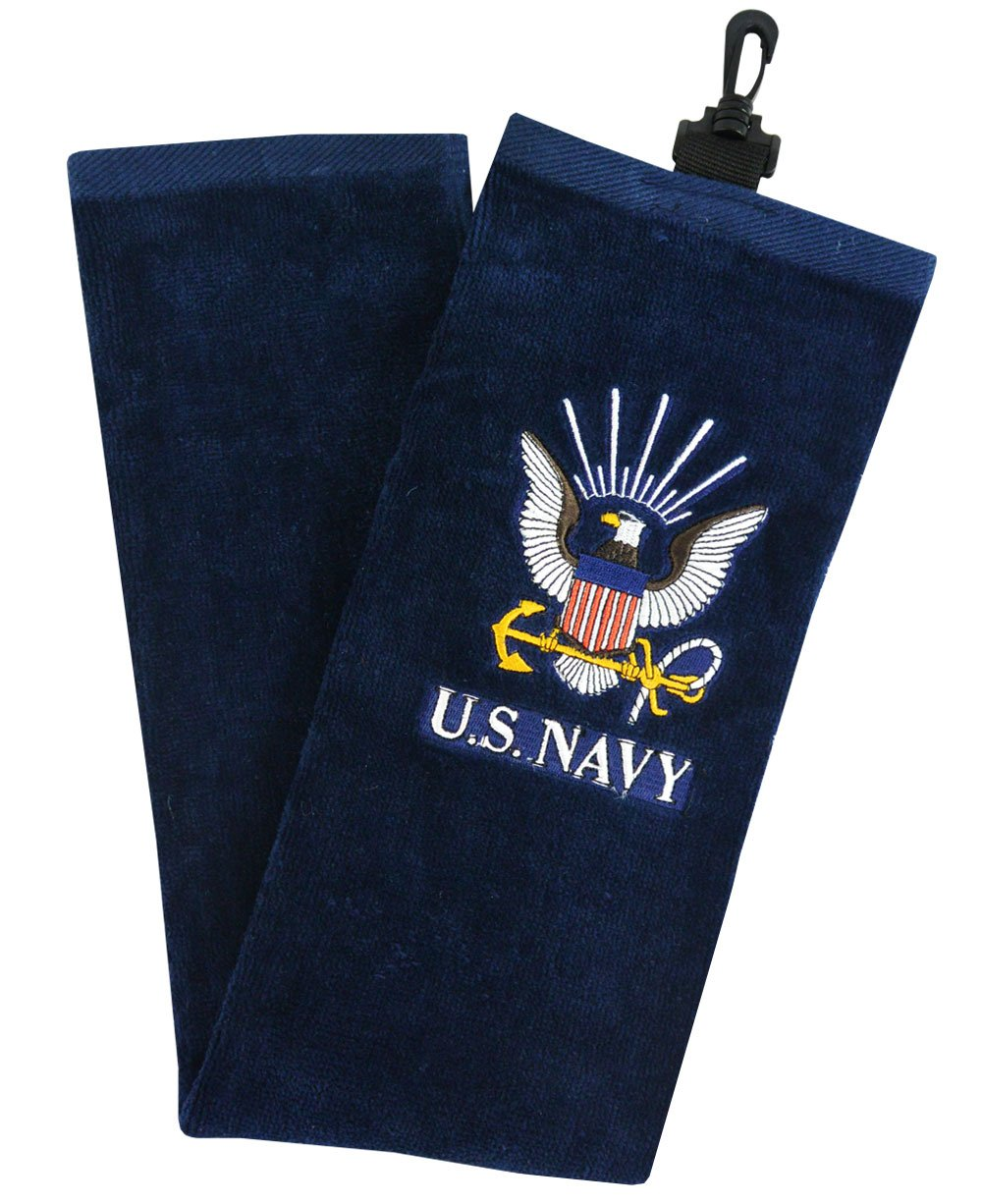 Hot-Z Golf US Military Navy Tri-Fold Towel