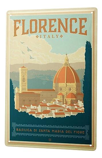 Blechschild Reisen Kuchen Deko Florenz Basilica Sehenswurdigkeit