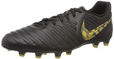 c1bdc2f7e Nike Men's Legend 7 Club FG Black/MTLC Vivid Gold Football Shoes (AO2597-