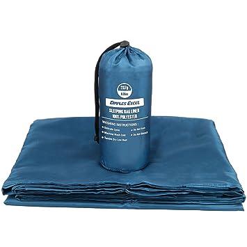 Dimples Excel Sábana para saco de dormir interior ultraligera envelope con espacio de lujo (azul monaco): Amazon.es: Deportes y aire libre