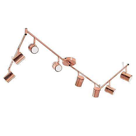 MiniSun - Plafón para el techo Rosie - Regleta con 8 focos ...