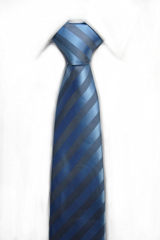 VIZENZO Corbatas rayas clásicas azul gris: Amazon.es: Ropa y ...