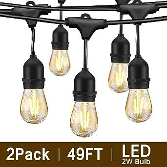 Svater Luces de Cadena,2x15M Impermeable Cadena de Luz, S14 Guirnaldas Bombillas Luminosas de Exterior con 2x15 Globe LED Bombillas,Guirnalda Luces Exterior Perefcto para Jardín Patio Fiesta: Amazon.es: Iluminación