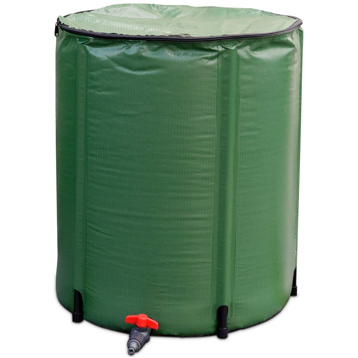 Goflame Rain Barrel Water Collector 50 Gallon Portable Foldable Collapsible Tank,Spigot Filter Water Storage Container, Green (50 Gallon) by Golflame