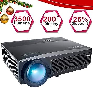 Proyector HD Proyector Proyector de LED 3300 lúmenes 1280 * 800 ...