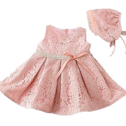 2 colores de lentejuelas cinturón de encaje satinado Baby Girl 1er Cumpleaños Vestido con capó 1509