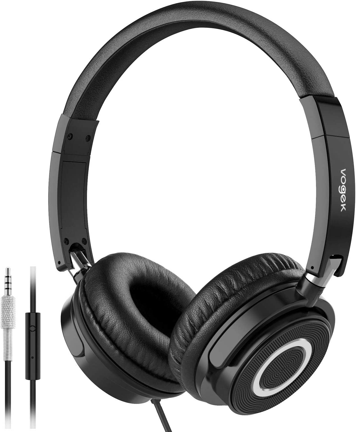Vogek On-Ear Wired Headphones With Mic For Tv