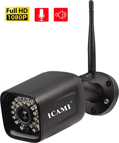 ICAMI Wireless Security Camera Outdoor 1080p WiFi Waterproof SD Card