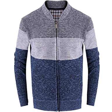 Men Casual Autumn Winter Sweatshirt Zip Warm Outwear Long Sleeve Jacket Coat c1390cb78b2