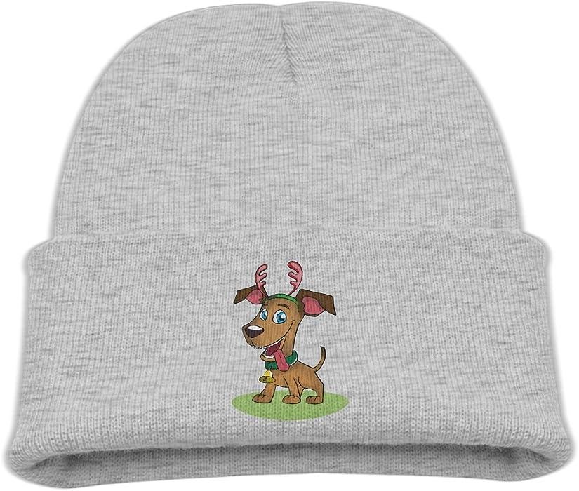 2e94a8ce9bb Amazon.com  MostPopular Cute Antler Dog Kids Winter Fleece Beanie Hat For  Girls Boys Warm Unisex Skull Wool Warm Cap  Clothing