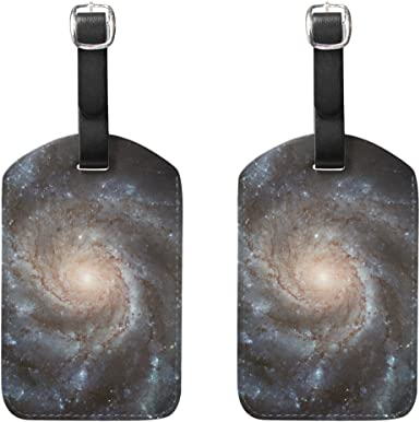 Outer Space Galaxy Universe Luggage Tag Label Travel Bag Label With Privacy Cover Luggage Tag Leather Personalized Suitcase Tag Travel Accessories 2