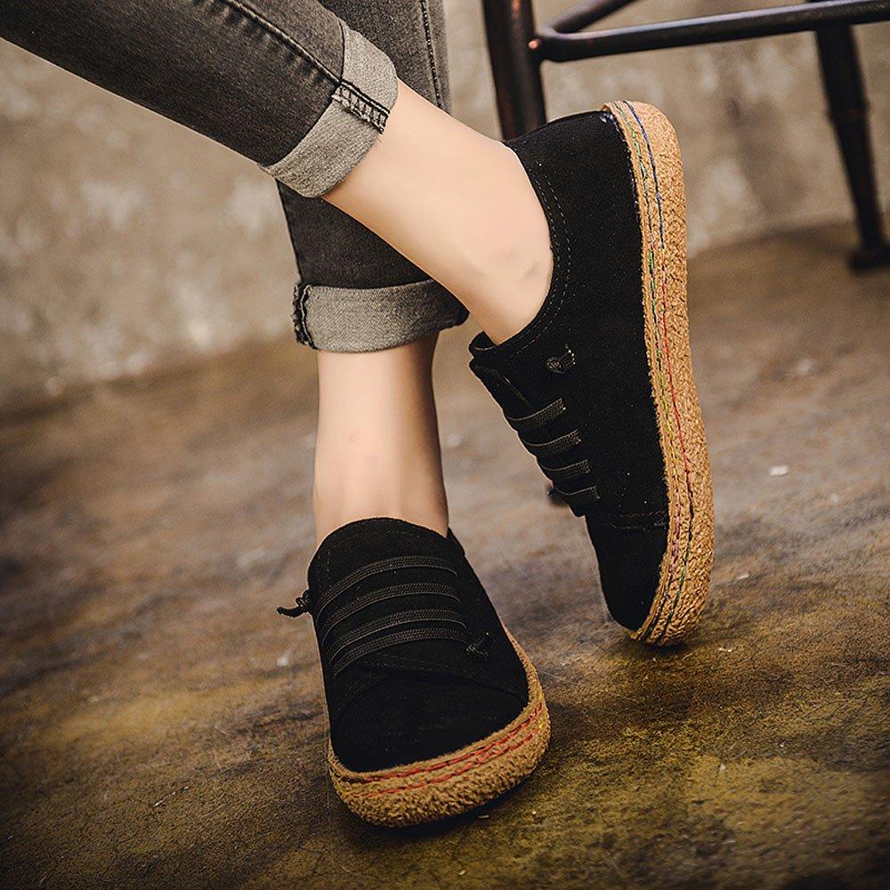 Yesmile Zapatos de mujer❤️Zapatos Planos de Mujer de Las se/ñoras Suaves del Tobillo Zapatos de Mujer de Las Botas de Gamuza con Cordones de Cuero Casual Planos Loafers Zapatos Planos