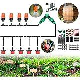 "CYEVA 100ft Rain Barrel Drip Irrigation Kit with Y Shape 2-Way Splitter, 1/4"" Blank Distribution Tubing, DIY Water…"
