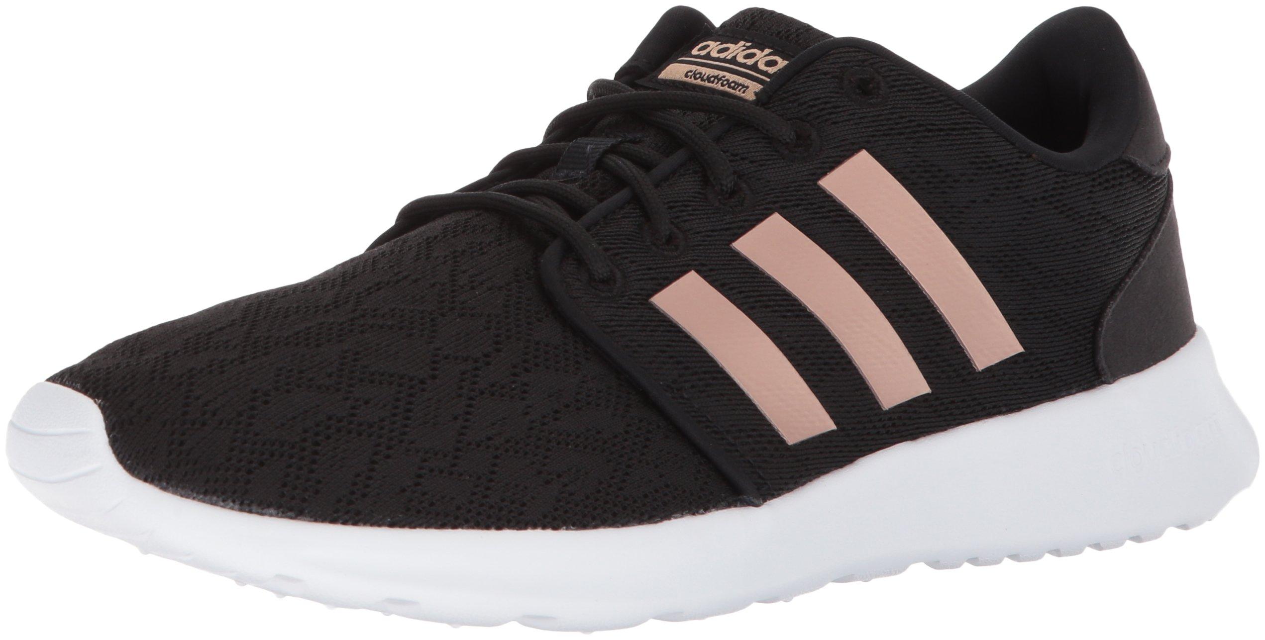 adidas Women's CF QT Racer W Sneaker, Core Black, Copper Met, Ftwr White, 9 M US by adidas