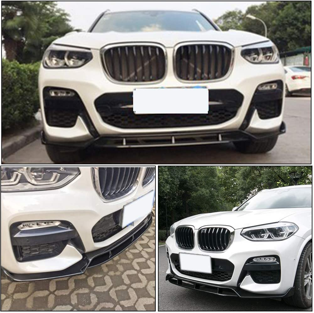 Black MCARCAR KIT Front Bumper Lip fits BMW X3 G01 M40i Sport Utility 4Door 2018-2020 Add-on ABS Chin Spoiler Splitter Protecto