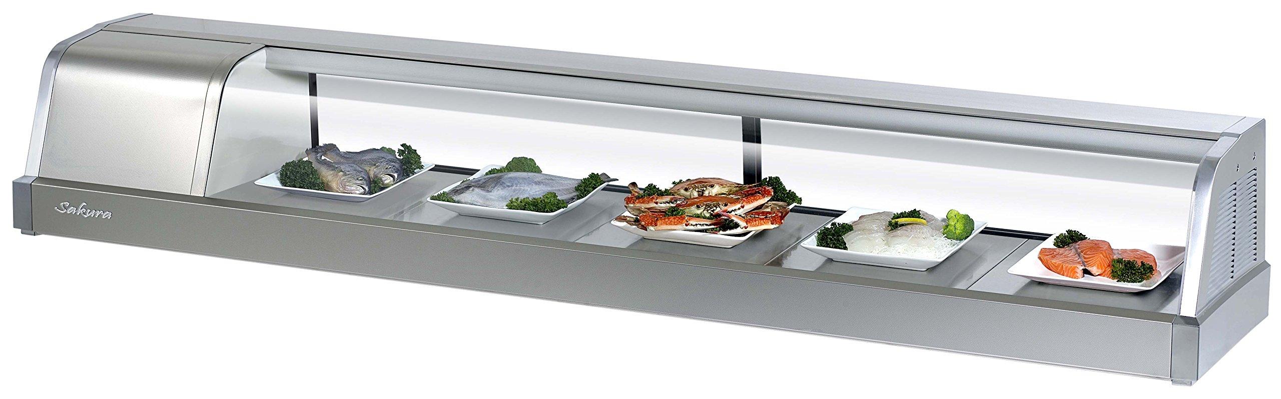 Turbo Air SAKURA-70 Sushi Display Merchandiser, Four Door, 2.1 cu ft