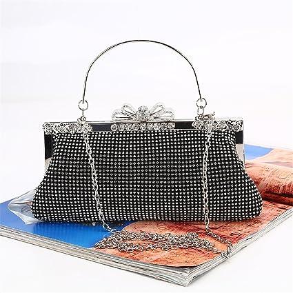 Bolso de mano monedero embrague Bolso de boda brillante del bolso del embrague de la señora