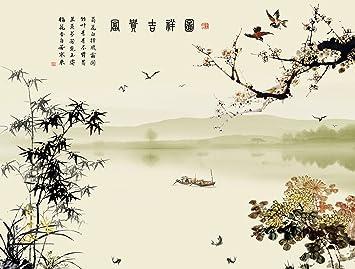 Asiatische Tapete tapete chinesische esprit auf halterung vlies wandteppich
