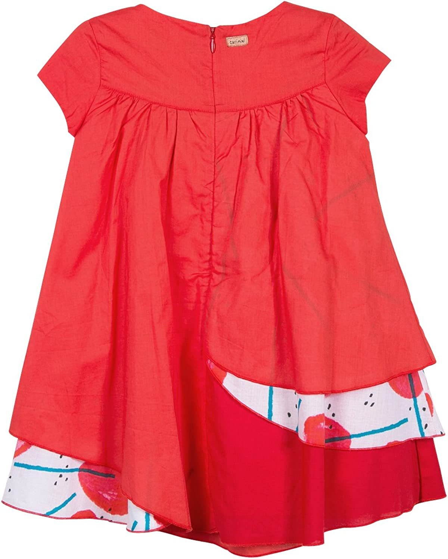 Catimini M/ädchen Robe Voiles Kleid