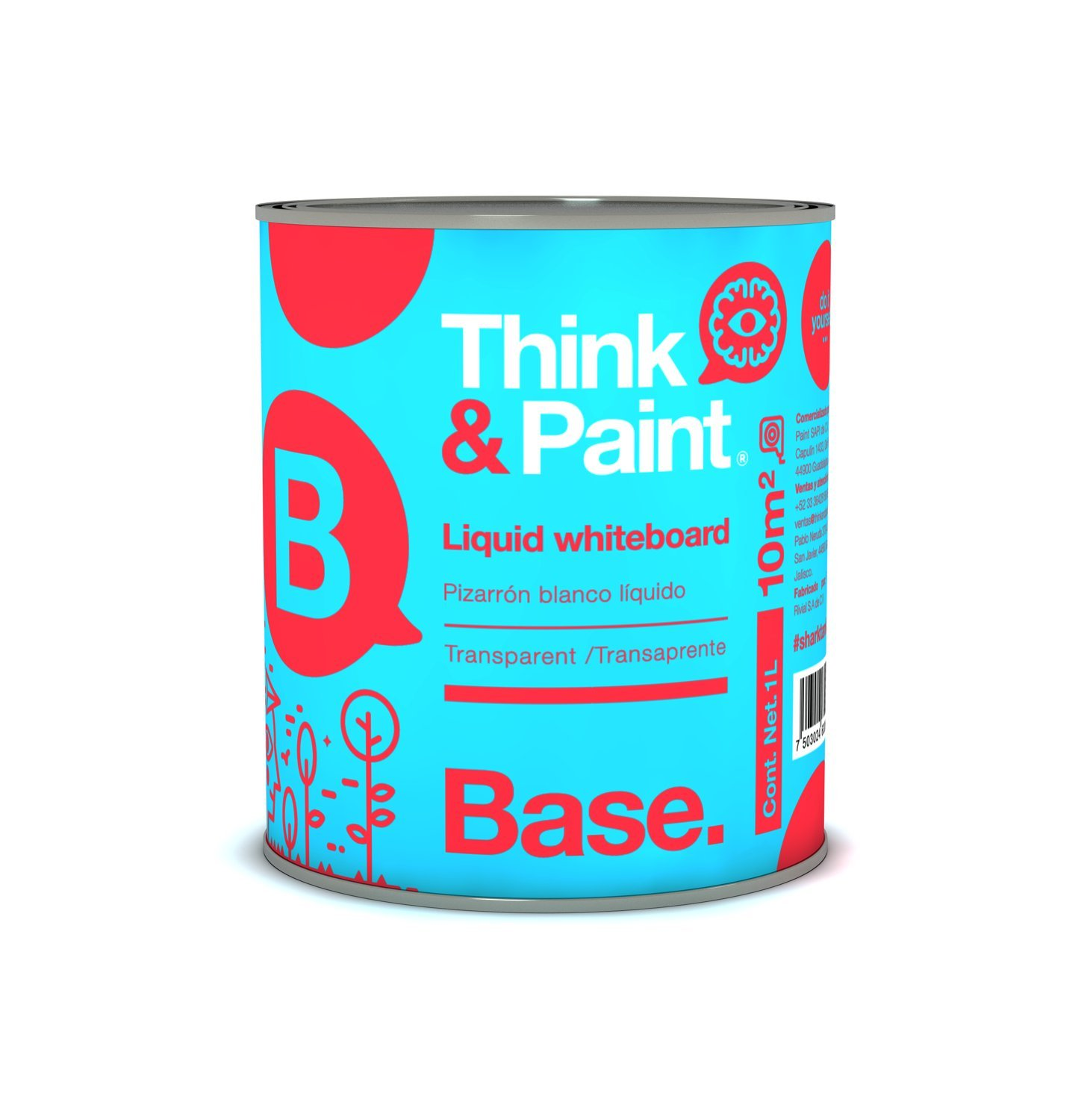 Think & Paint White board paint for 100 sq ft