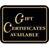 """Gift CERTIFICATES Available - Retail Store Merchandise Business Sign - Durable Plastic 7""""x 5,5"""" Store Sign - Boost Sales…"""