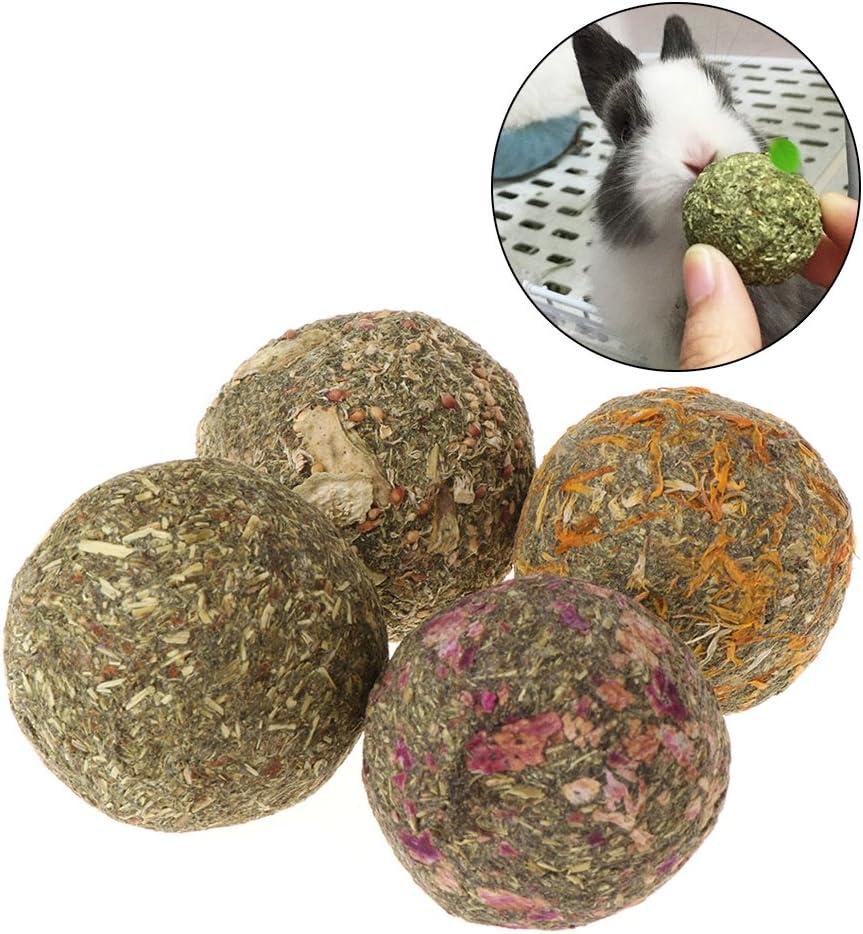 Haven Shop - Bola para desgastar dientes de mascotas, 2 unidades, juguetes de hierba natural, para cobayas, conejos, chinchillas