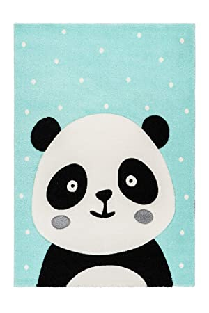 Amazon.de: One Couture Kinderteppich Panda Bär Sterne ...