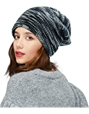ZIQIAN Men Women Slouchy Beanie Warm Knitted Hat Boys Girls Ladies Outdoor Ski Sport Winter Hat Loose Knit Cap
