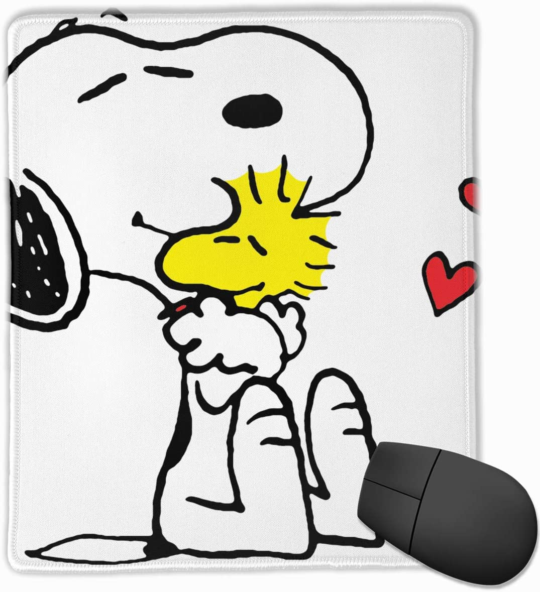 7.1x8.7IN,18x22CM Mouse Pad Snoopy Love Computer Mouse Mat