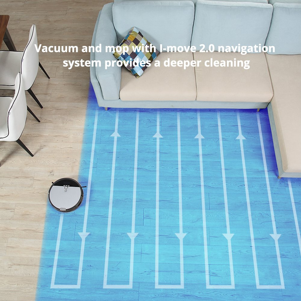 ILIFE V8s Robot Vacuum Cleaner Navigated Vacuuming and Mopping by ILIFE (Image #2)