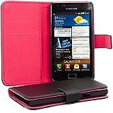 kwmobile Wallet Case Hülle für Samsung Galaxy S2 S2 PLUS - Cover Flip Tasche mit Kartenfach in Schwarz