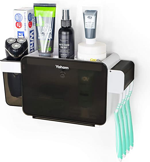 BianchiPatricia Toothbrush Holder Wall Mounted Toothpaste Cup and Razor Holder Save Space