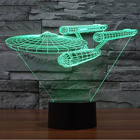 Juego de Star Trek USS Enterprise 3D Lámpara de Escritorio Mesa ...