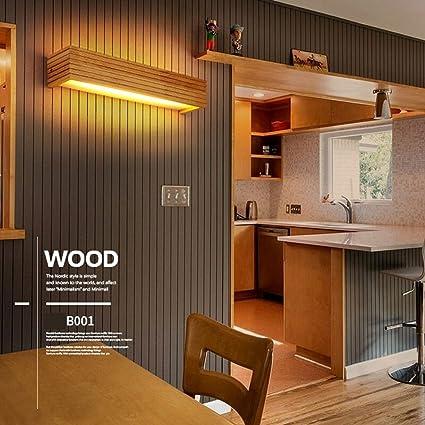 Amazon.com: Modernas luces de pared de madera para baño, LED ...