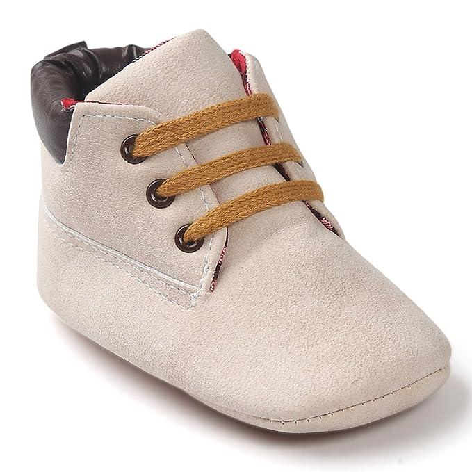 YanHoo Zapatos para niños Bebé Alto para Ayudar a los Zapatos Zapatos de Cuero de Suela