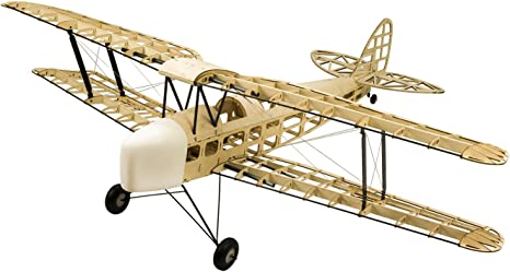 2017 versión actualizada DW Hobby Balsa Aeroplano de Havilland DH82a Tiger Moth Biplane Wingspan 1400 mm Balsa Madera Modelo de avión Kit de construcción + Cubierta S0901B: Amazon.es: Juguetes y juegos