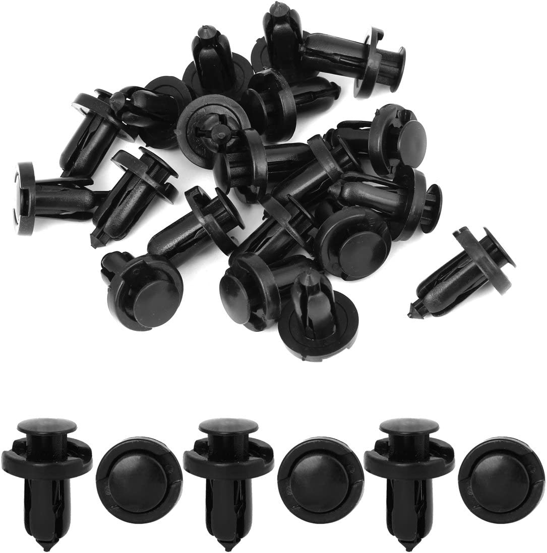 50 Pcs Fender Liner Fastener Rivet Push Clips Retainer 10mm Hole Dia For Honda